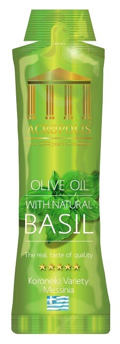 Acropolis Extra Virgin Olive Oil With Natural BASIL 10ml Sachet