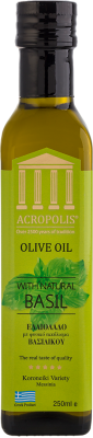 Acropolis Extra Virgin Olive Oil With Natural BASIL 250ml