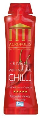 Acropolis Extra Virgin Olive Oil With Natural CHILLI 10ml Sachet